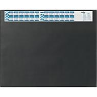 Schrijfonderlegger met kalender, zwart