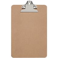 Schrijftablet MAULclassic, A5 staand formaat, nostalgische clip, hardboard, bruin