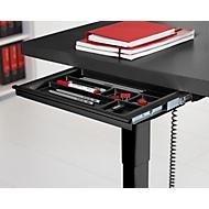 Schublade, für elektrisch höhenverstellbaren Schreibtisch Elements, B 434 mm, schwarz