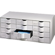 Schubladenbox, 12 Schübe, Polystyrol