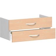 Schubladeneinsatz ALICANTE, 2 Schübe = 1 Set, B 800 x T 400 x H 384 mm, Buche-Dekor