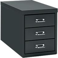 Schubladenschrank DIN A4, mit 3 Schubladen, 330 mm hoch, schwarz
