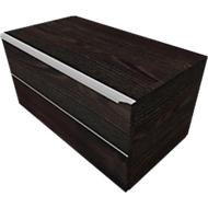 Schubladenschrank QUANDOS BOX, 1 Schub, B 1000 x T 440 x H 374 mm, Mooreiche