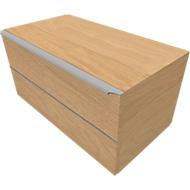Schubladenschrank QUANDOS BOX, 1 Schub, B 800 x T 440 x H 374 mm, Eiche Masonic