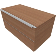 Schubladenschrank QUANDOS BOX, 1 Schub, B 800 x T 440 x H 374 mm, Kirsche Romana