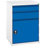 Schubladenschrank Verso, 2 unterschiedliche Schubladen, 1 Tür, ohne Schloss