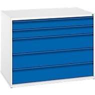Schubladenschrank Verso, 5 Schubladen, Breite 1050 mm, ohne Schloss