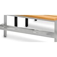 Schuhrost, für Sitzbank, L 1495 mm, lichtgrau