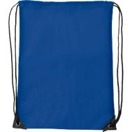 Schuhrucksack Basic, 340 x 420 mm, 210D-Polyester, mit Zugkordel und Metallösen, blau