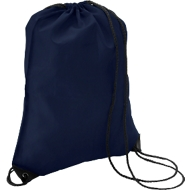 Schuhrucksack Basic, 340 x 420 mm, 210D-Polyester, mit Zugkordel und Metallösen, dunkelblau