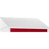 Schuin dak voor kledinglocker, B 630 mm, lichtgrijs