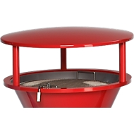 Schutzdach, für Standascher, aus Kunststoff, rot