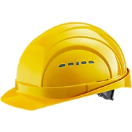Schutzhelm EuroGuard I/79 4-G, Hochdruck-Polyethylen, DIN EN 397, gelb, mit 4-Punkt-Gurtband, Belüftung