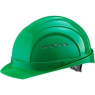 Schutzhelm EuroGuard I/79 4-G, Hochdruck-Polyethylen, DIN EN 397, grün, mit 4-Punkt-Gurtband, Belüftung