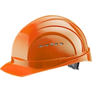 Schutzhelm EuroGuard I/79 4-G, Hochdruck-Polyethylen, DIN EN 397, orange, mit 4-Punkt-Gurtband, Belüftung