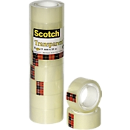Scotch® transparant plakband 550, 8 stuks, 19 mm x 10 m