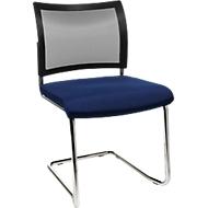 SEAT POINT sledestoel, net, zonder armleuningen, stapelbaar, 2 stuk, blauw