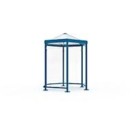 Sechseck-Raucherpavillon Modell Paris, enzianblau RAL 5010