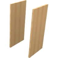 Seitenblenden, 2 OH, 2 Stück, H 860 x B 30 x T 430 mm, Buche-Dekor