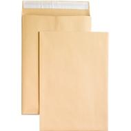 Seitenfaltentaschen, 20 mm, haftklebend, DIN B4, 100 Stück, natronbraun