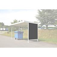 Seitenwand, für Überdachungssystem Modell Leipzig, T 4400 mm, verzinkt