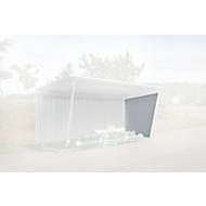 Seitenwand, Trapezblech, links, für einseitiges Modell