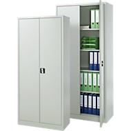 Set avantageux : 2 armoires en acier, L 800/920 x P 380/420 x H 1800/1950 mm, 4,5/5 OH, verrouillables, gris clair RAL 7035