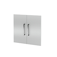 Set de 2 portes pour armoires AXXETO, 2 HC, H 760 mm, gris clair