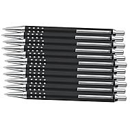 SET Druckkugelschreiber Lipari, 150teilig, schwarz, inkl. einfarbigem Werbedruck