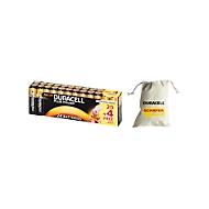 Set économique DURACELL® piles Plus Power, AA, pack économique 24 pièces + sac de collecte de piles, GRATUIT