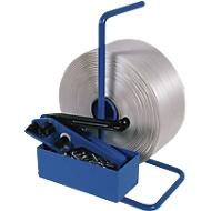 SET Polyesterfadenband Umreifung + 500 Verschlussklemmen