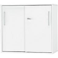 SET UP aanbouw-/opzetschuifdeurkast, 2 OH, B 800 x D 420 x H 726 mm, wit/wit