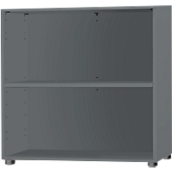 SET UP boekenkast, 2 OH, uitbreidbaar, B 800 x D 420 x H 744 mm, grafiet