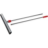 Set vloertrekker, 450 mm, zwarte rubber strip + chroom steel