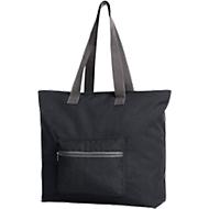 Shopper SKY, faltbar, Polyester, B 400/550 x T 150 x H 400 mm, inkl. einfarbige Werbeanbringung 230 x 80 mm, schwarz