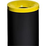 Sicherheitsabfallbehälter Grisu Color, 50L, schwarz/gelb