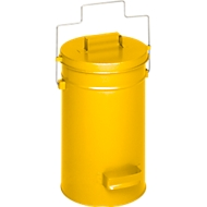 Sicherheitsbehälter mit Deckel, gelb