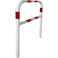 Sicherheitsgitter, zum Einbetonieren, L 1000 mm, weiß/rot