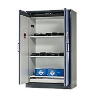 Sicherheitsschrank Battery Store 1200, 3 Gitter + 1 Bodenauffangwanne, B 1193 x T 615 x H 1953 mm