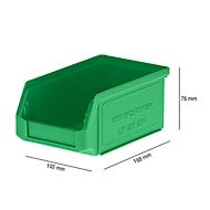 Sichtlagerkasten LF 211, Kunststoff, 0,9 l, grün