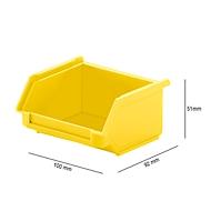 Sichtlagerkasten SSI Schäfer LF 110, Polypropylen, L 92 x B 100 x H 51 mm, 0,26 l, gelb