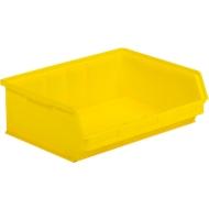 Sichtlagerkasten SSI Schäfer LF 351 ZW, Polypropylen, L 348 x B 470 x H 145 mm, 17 l, gelb