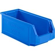 Sichtlagerkasten SSI Schäfer LF 421, Polypropylen, L 380 x B 185 x H 154 mm, 7,8 l, blau