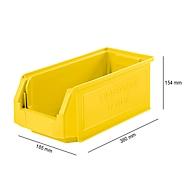 Sichtlagerkasten SSI Schäfer LF 421, Polypropylen, L 380 x B 185 x H 154 mm, 7,8 l, gelb