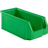 Sichtlagerkasten SSI Schäfer LF 421, Polypropylen, L 380 x B 185 x H 154 mm, 7,8 l, grün