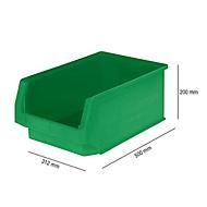 Sichtlagerkasten SSI Schäfer LF 532, Polypropylen, L 500 x B 312 x H 200 mm, 23,5 l, grün