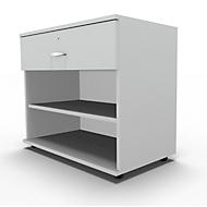 Sideboard, met schuiflade, afsluitbaar, spaanplaat, B 800 x D 420 x H 663 mm, lichtgrijs