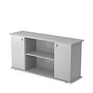 Sideboard ULM, H 840 x B 1661 x T 448 mm, lichtgrau