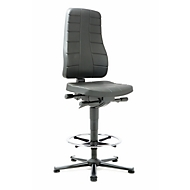 Siège pivotant All-in-One 9641, mousse PU, noir