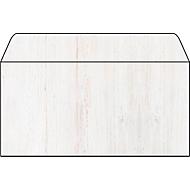 Sigel enveloppen met reliëf hout, past bij structuurpapier, lang, 50 stuks